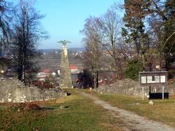 Blick über das Anexkastell in Osterburken